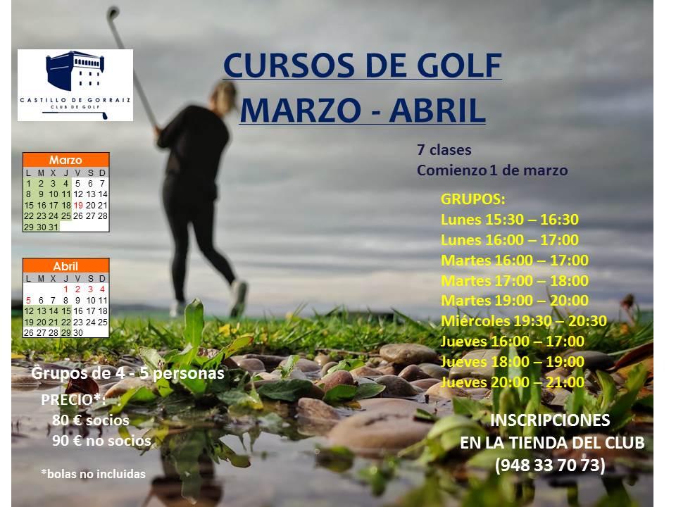 Cursos de Golf Adultos